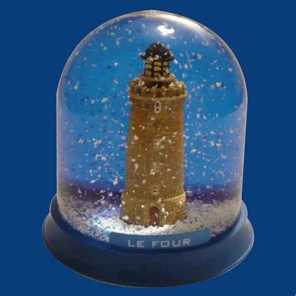 Video Boule neige Phare Le Four -BN016