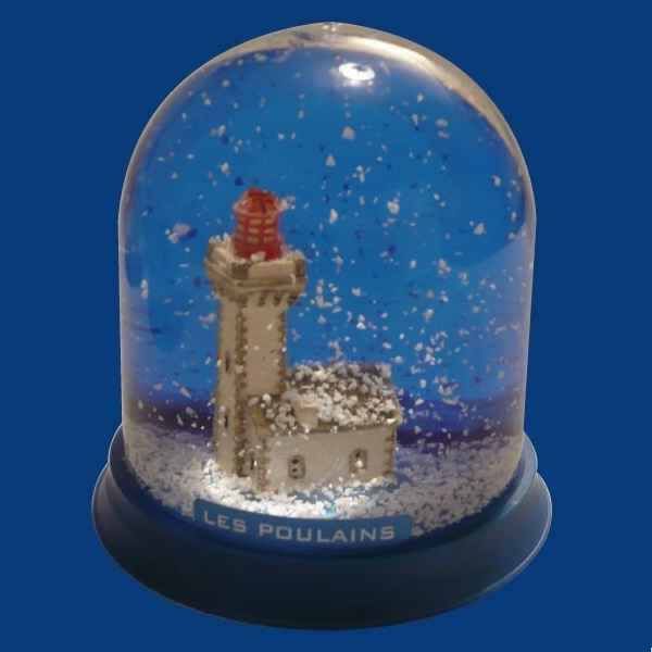 Video Boule neige Phare Les Poulains -BN021
