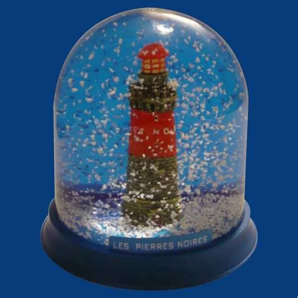 Video Boule neige Phare Pierres Noires -BN013